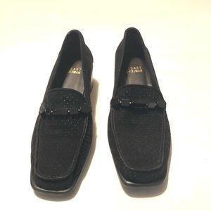 Stewart Weizmann Women's Black Suede Heels Sz 6 M